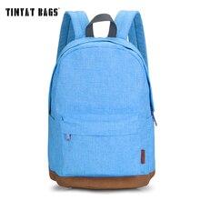 TINYAT Korean Canvas Student School Backpack Men Casual Rucksacks for girls Travel Laptop Backpack Women Mochila