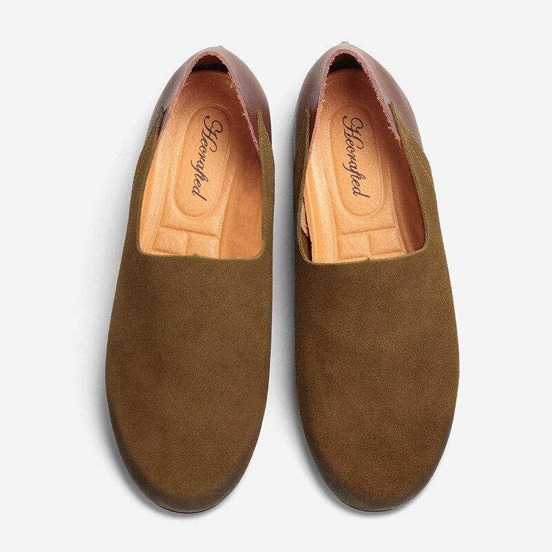 Brown Mocassins Mode Cuir Brun Hommes Yk8013 De Slip 2018 Fendu Sur RFZ6pqR