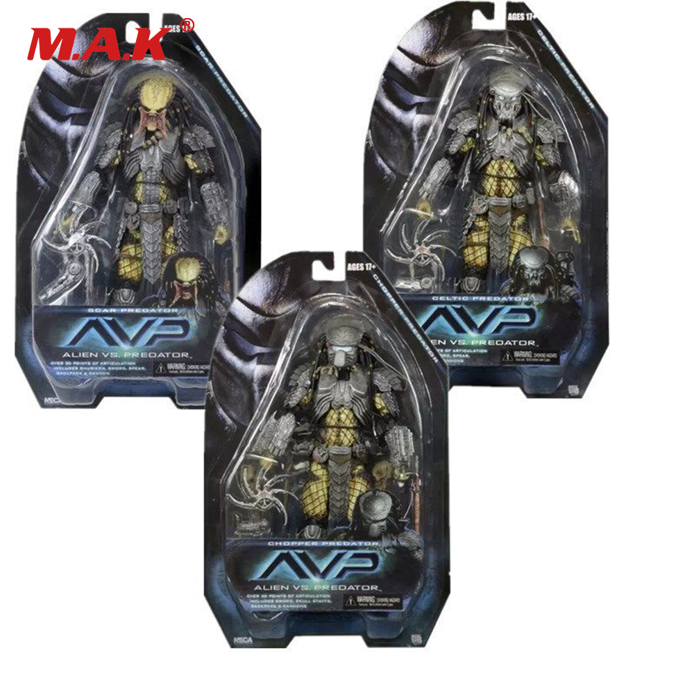 NECA PREDATOR SÉRIE 14 AVP ALIEN VS PREDATOR Cicatrice/CHOPPER PRÉDATEURS 7 ''Anime Figure pour les Enfants Kid Collection cadeau