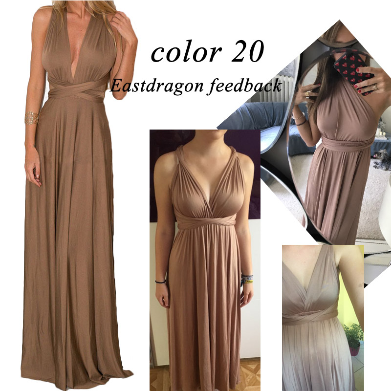 Sexy Women Multiway Wrap Convertible Boho Maxi Club Red Dress Bandage Long Dress Party Bridesmaids Infinity Robe Longue Femme 13