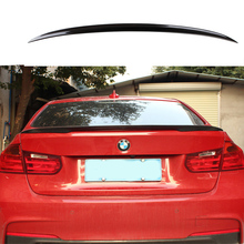 2013 2014 2015 2016 2017 for BMW F30 F35 spoiler by high quality ABS material Black carbon fiber color 320i 320li 325li 328i