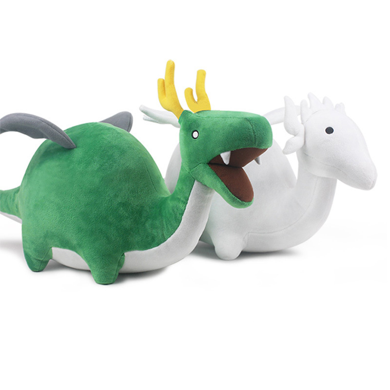 28cm Anime Miss Kobayashi's Dragon Maid Dinosaur Plush Toys Soft Kobayashi-san Chi no Maid Dragon Kanna Kamui Stuffed Dolls Gift 1744cm how to train your dragon 2 plush toy night fury toothless dragon soft plush doll toys collection gift