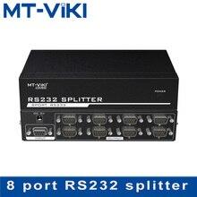 MT-VIKI RS232 splitter 8 port Divisore DB9 Seriale RS232 Protocollo di Trasferimento Dati COM con Adattatore di Alimentazione