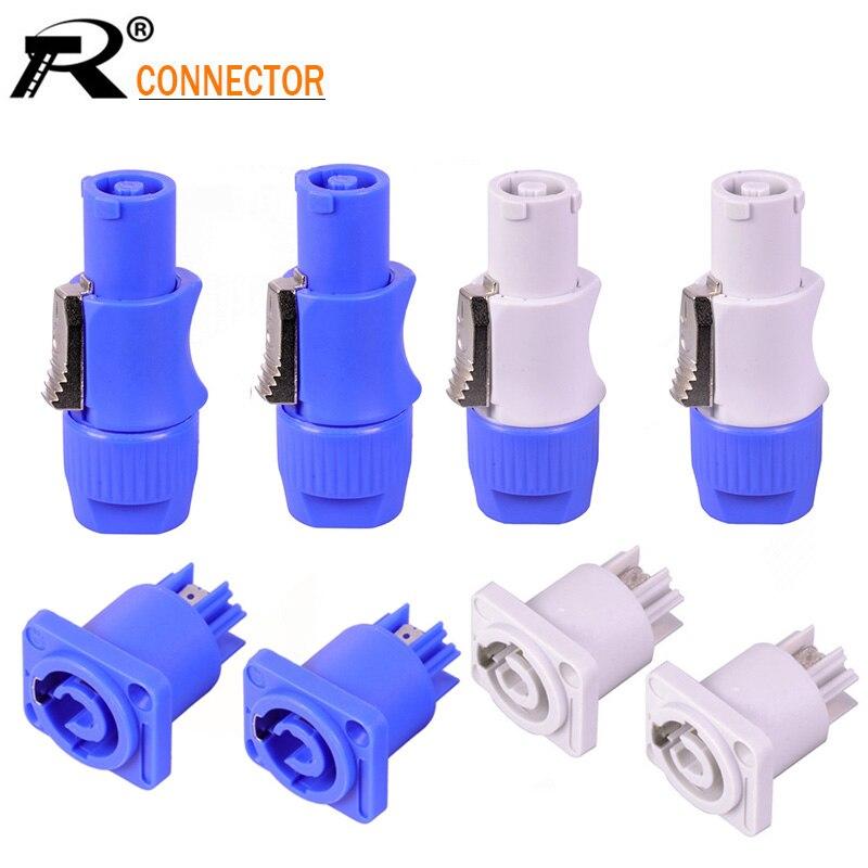 100pcs lot NAC3FCA Speakon Plug Socket 3 PIN Powercon Plug Jack Connector 20A 250V AC Power