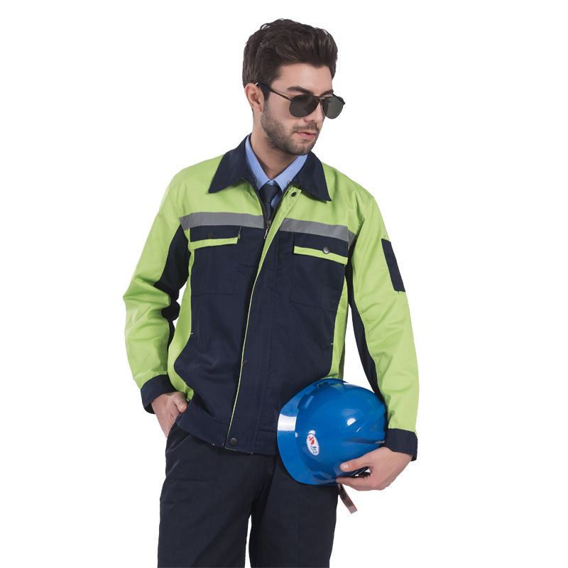 Reflective Stitching Color Workwear Jacket and Trousers Work Set Clothing with Reflective Stripe Embroidery Logo Printing in Safety Clothing from Security Protection