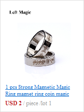 1 шт. горячее сильное магнитное волшебное кольцо серебряное и черное волшебное кольцо монета волшебные фокусы для магического шоу магии крупным планом B1024