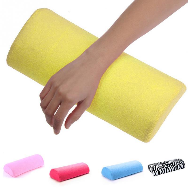 Nail Art Kissen Fisch Muster Satin Faltbare Hand Kissen Halter Weiche Hand Arm Ruht Maniküre Pflege Behandlung Nagel Liefert Handauflagen
