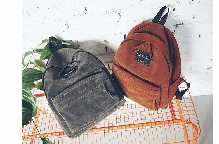 2016 New Women Backpack Preppy Style Suede Backpacks Teenage Girls School Bags Vintage Rivet Travel Backpack Burgundy Gray Black (46)