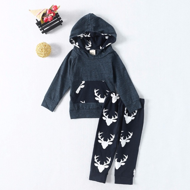 2a1a0409 Toddler/Infant Baby costume Boys Girls sweatsuit Long Sleeve Hoodie outfit  Tops+Pants Deer