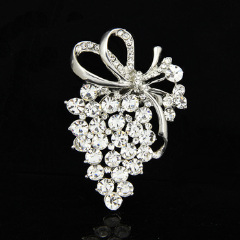Flower Brooch For Women High Quality 2019 Fashion Jewelry Crystal Flower Brooches Pins Dropshipping