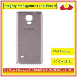 Image 4 - 10 шт./лот для Samsung Galaxy Note 4 Note4 N910 N910F N910V N910C N910P корпус батарейного отсека задняя крышка корпус