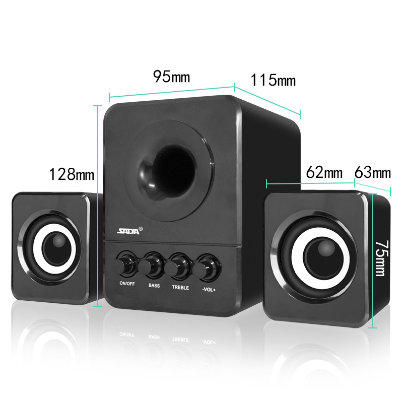 SADA Wired Mini Portable Combination Speaker 3