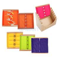 Монтессори детей раннее развитие одеваться обучения Одежда box w/шкаф игрушка