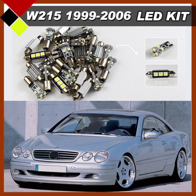 High Power Car White Interior Bulbs Error Free LED Package  Kit 15Pcs For Mercedes-Benz CL-Class W215 C215 1999-2006