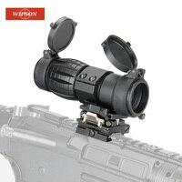 WIPSON оптический прицел 3X лупа область компактный охотничий прицел Прицелы с откидной крышкой подходит для 20 мм винтовка пистолет рейку