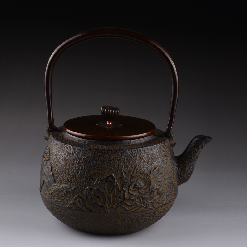 Cast Iron Teapot Set Japanese Tea Pot 1300ml Peony Tetsubin Kettle Kung Fu Infusers Tools Drinkware Hot Sale Wholesale
