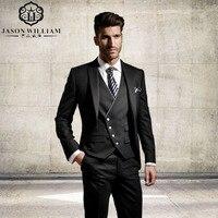 LN131 индивидуальный заказ жениха формальный костюм свадебный костюм для Для мужчин дружки костюм Для мужчин костюмы куртка + брюки + жилет кл