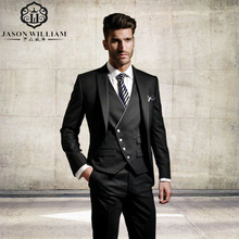 LN131 Custom Made Groom Formal suit Wedding suit for men Groomsman Suit Men Suits Jacket+Pants+Vest classic fit Bridegr