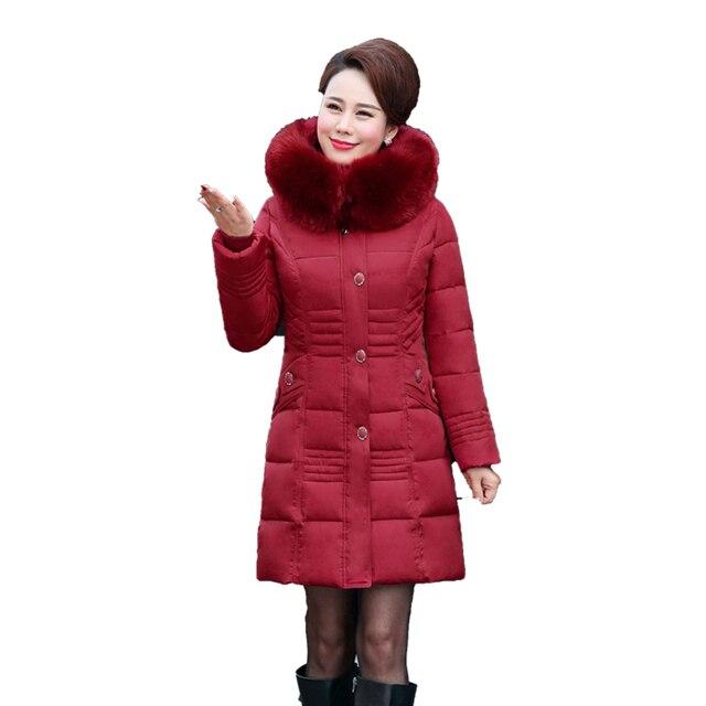 Große 2017 Fell Mantel 0frauen Lange Warme Weibliche Parka Elegante Winterjacke Verdicken Us106 Damen Mode Neue Winter Baumwolle Kapuze cT3uJFK1l5