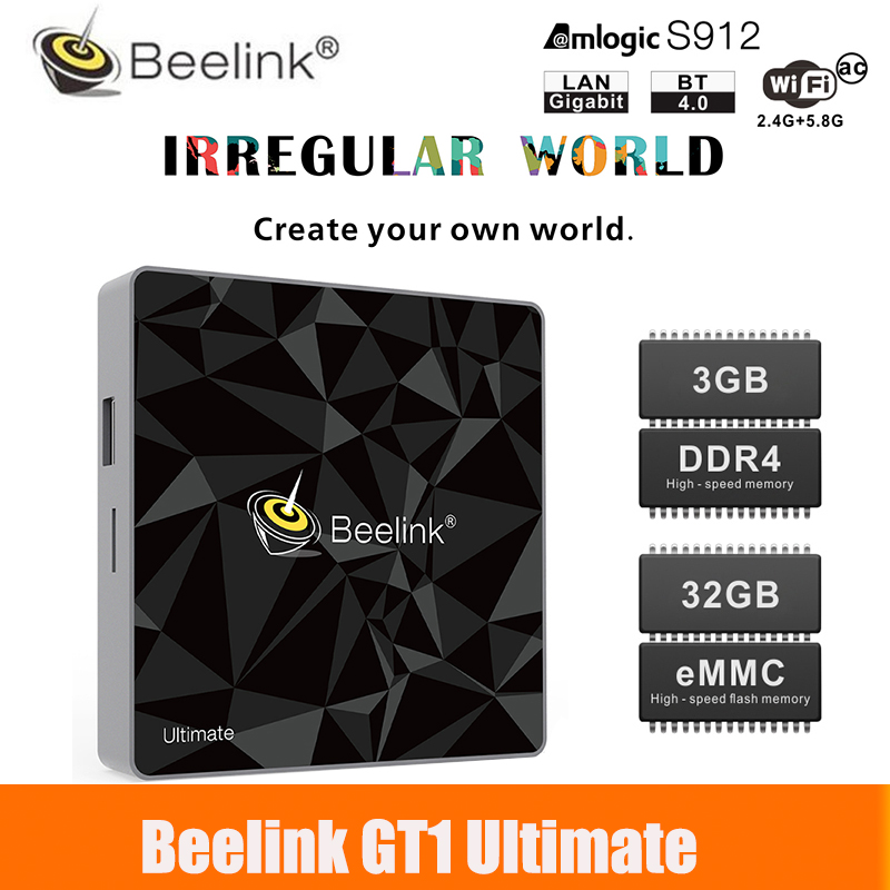 Unterhaltungselektronik Professioneller Verkauf Gt1 Ultimative Tv Box Ddr4 3g 32g Google Amlogic S912 Octa Core Cpu 2,4g 5,8g Dual Wifi Android 7.1 Set-top-box Media Player Einfach Und Leicht Zu Handhaben