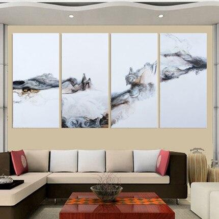 4 panely Mondern Canvas Oil Paintss Obrazy na plátně Home Decor Dekorativní nástěnné obrazy do ložnice