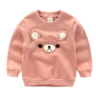 Новинка 2016 весна-осень детские толстовки топы с объемным медведем для мальчиков и девочек футболки из чистого хлопка одежда для малышей нежные цвета
