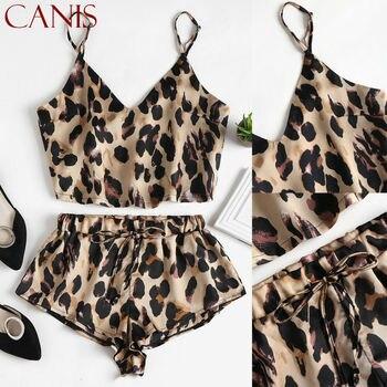 2PCS Women Sexy Satin Lace Sleepwear Babydoll Lingerie Nightdress Pajamas Set 2
