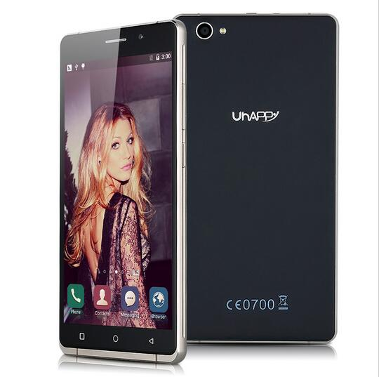 Uhappy UP580 MT6580 Quad Core Android 5.1 Mobile Phone 6.0inch Unlocked GSM/WCDMA Band Dual SIM Smartphone