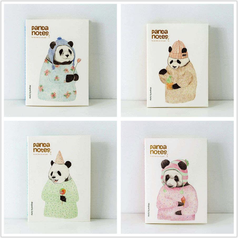 Fruit Panda Pack of 4 Exercise Notepad Lined Freenote Study Notebook Big Composition Book Journal bowen m way ahead 4 pupils book cd rom pack