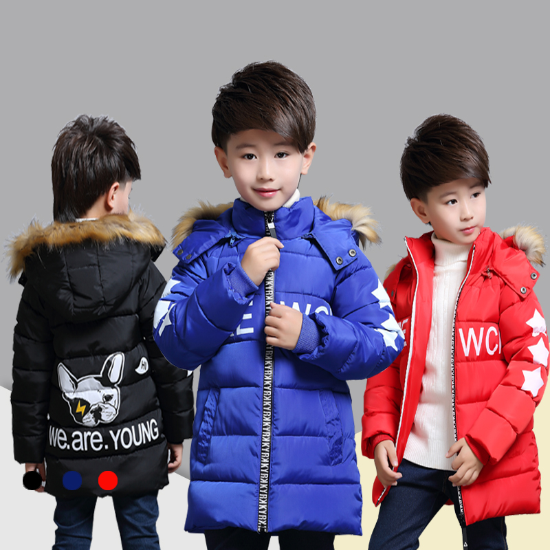 New 2018 Children's Winter Jackets Padded Children Clothing Big Boys Warm Winter Down Coat Thickening Outerwear children clothing winter outerwear