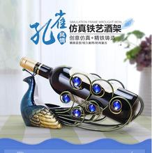 Creative wine bottle aircraft simulation shelf, wrought iron furniture, display shelf