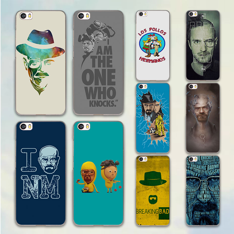 Breaking Bad Blue Yellow Heisenberg design hard clear Case Cover for Xiaomi Mi 4 4s 4c 5 ...