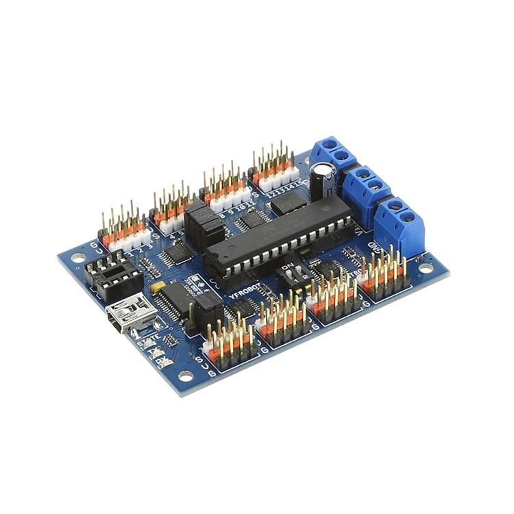 USB 32CH Servo Controller Module Robot Driver  Multi DOF Controller Module  Offline Download lcsc 16 16 ch servo moter controller