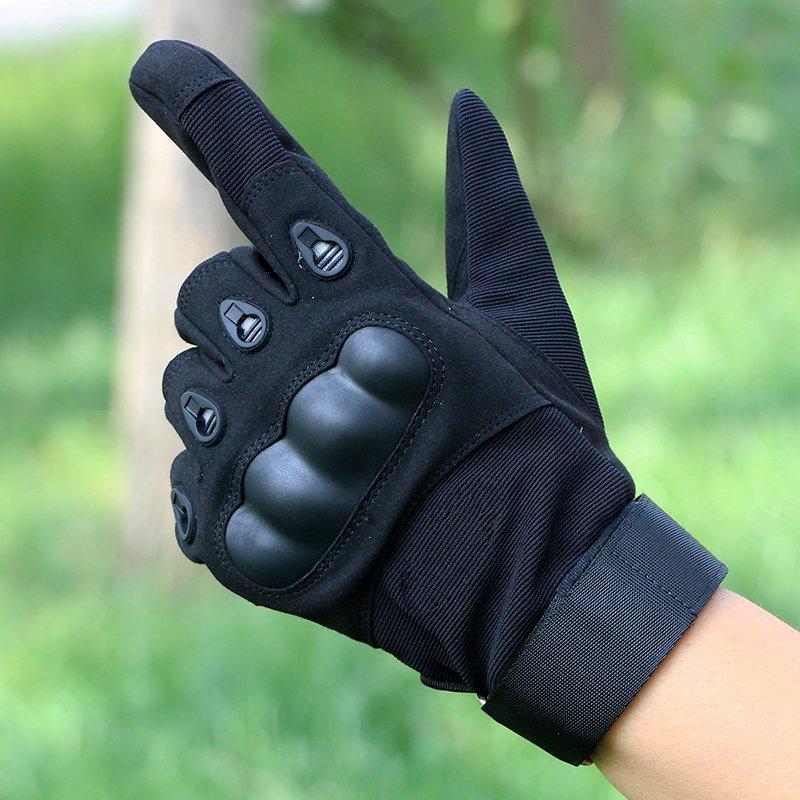 Men's Commando full finger gloves men riding motorcycles sunscreen summer slip MTB pro biker mcs 01a motorcycle racing full finger protective gloves blue black size m pair
