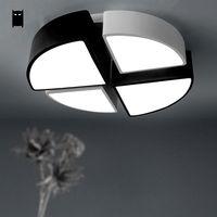 Круглый Геометрия потолочный светильник современная Nordic LED plafon лампы Luminaria жизни исследование столовая спальня балкон кухня