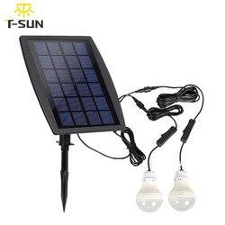 T ALBA Lampada con Pannello Solare Due Lampadine A LED IP65 Impermeabile Tenda di Campeggio Della Lampada di Sicurezza Luce Di Natale All'aperto Giardino Lig