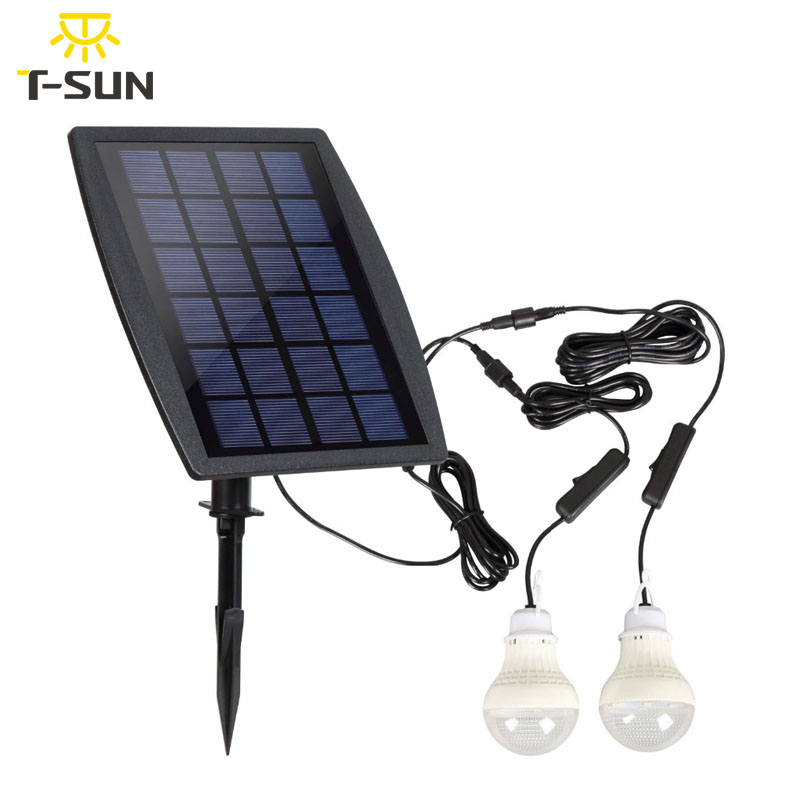 T SUNRISE Lamp with Solar Panel Two LED Bulbs IP65  WaterProof Camping Tent Lamp Security Christmas Light Outdoor Garden LigT SUNRISE Lamp with Solar Panel Two LED Bulbs IP65  WaterProof Camping Tent Lamp Security Christmas Light Outdoor Garden Lig