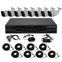 Aokwe HD 8CH CCTV System 2MP 1080P AHD DVR KIT 8PCS Outdoor Security Camera System With