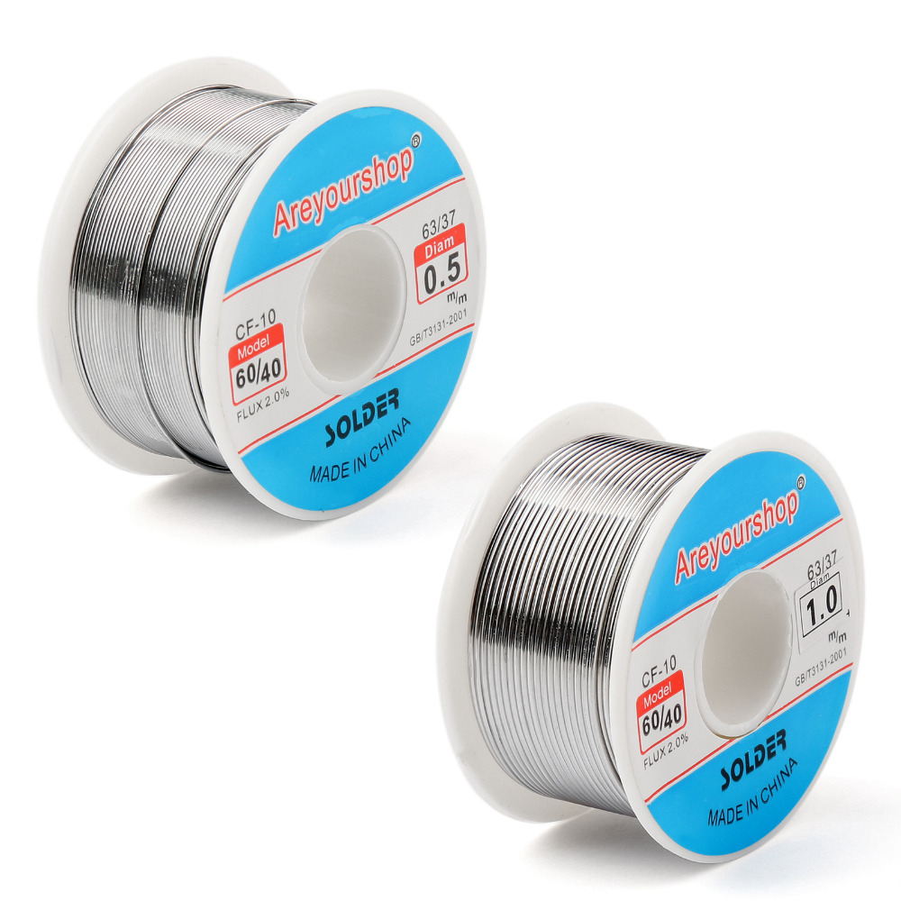Areyourshop 0.5mm 1.0mm 100g <font><b>60</b></font>/<font><b>40</b></font> Tin Lead <font><b>Solder</b></font> Wire Soldering Flux 2.0% Wholesale Iron Wire Reel image
