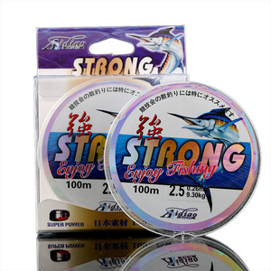 Image 2 - Wholesale 100m Nylon Monofilament Fishline Strong Tensile Force Wear Resistance Outdoor Sports Carp Fishing Line for Saltwater