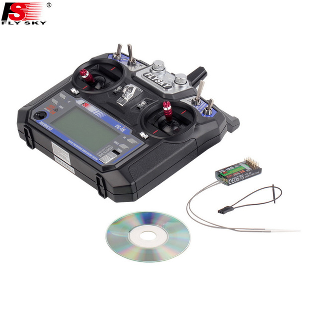 1pcs New Version FS FlySky FS-i6 2.4G 6ch Transmitter+FS-iA6B Receiver System LCD screen for RC helicopter(with retail box)