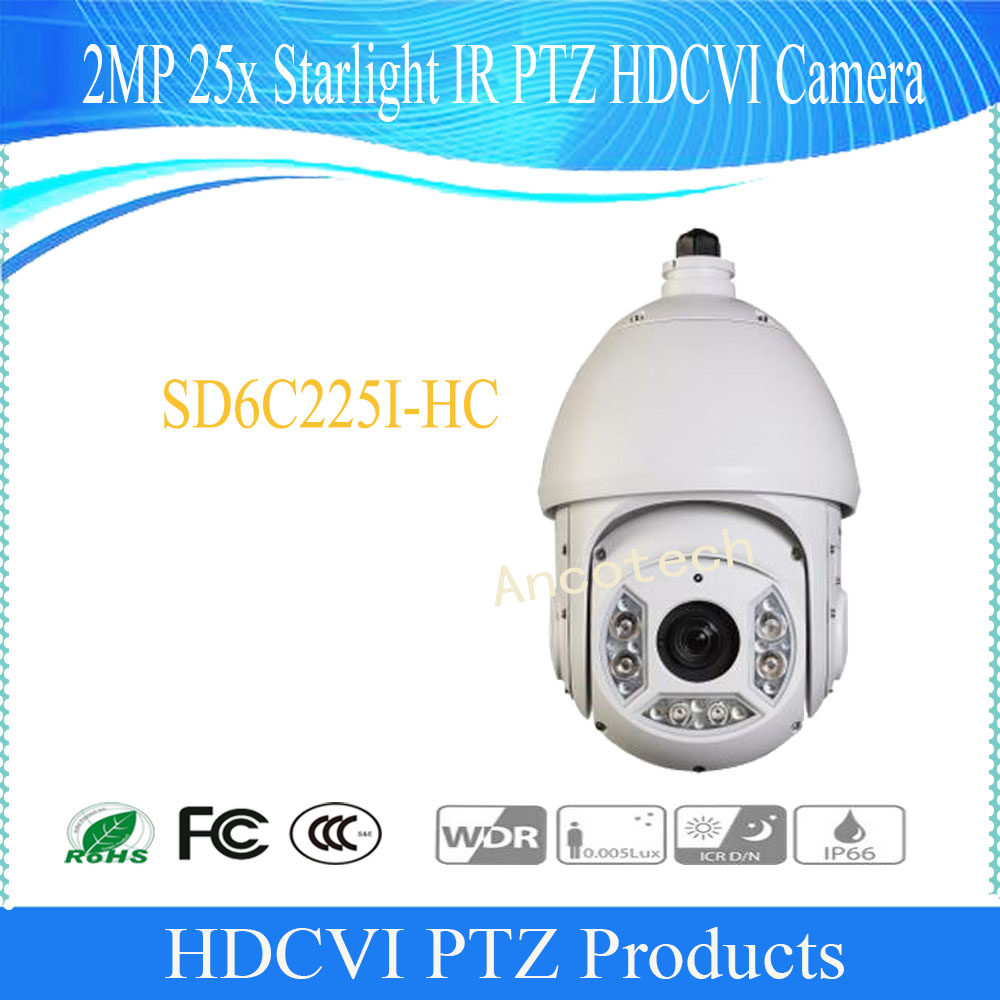 DAHUA Security Camera CCTV 2MP FULL HD 25x Starlight IR PTZ HDCVI Camera without logo SD6C225I