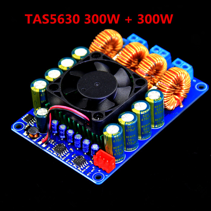 300W + 300W DC20 - DC50V TAS5630 Stereo Dual Channel High Power Class D Digital Amplifier Board aiyima 12v tda7297 audio amplifier board amplificador class ab stereo dual channel amplifier board 15w 15w