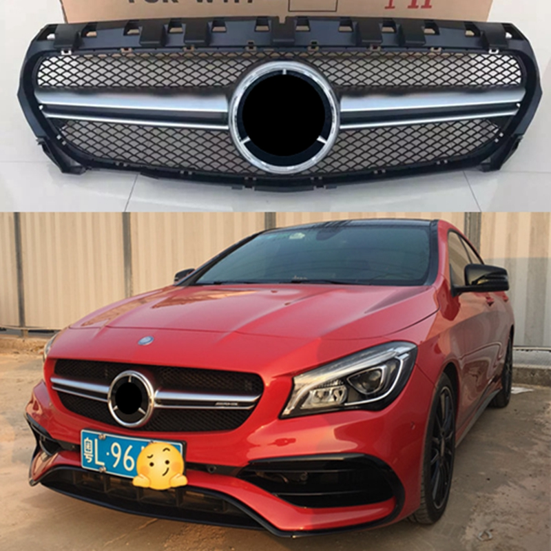 Suitable for Mercedes-Benz CLA class W117 CLA200 CLA250 CLA45 AMG style grille 2013-2016 Before facelift without centre logo mercedes cla w117 amg style replacement cf rear trunk wing spoiler for benz 2013 cla 180 cla200 cla 250