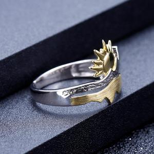Image 3 - GEMS בלט זהב ציפוי 925 כסף טבעת נישואים טבעת בעבודת יד מתכוונן להרחיב טבעת תכשיטי אירוסין לגברים