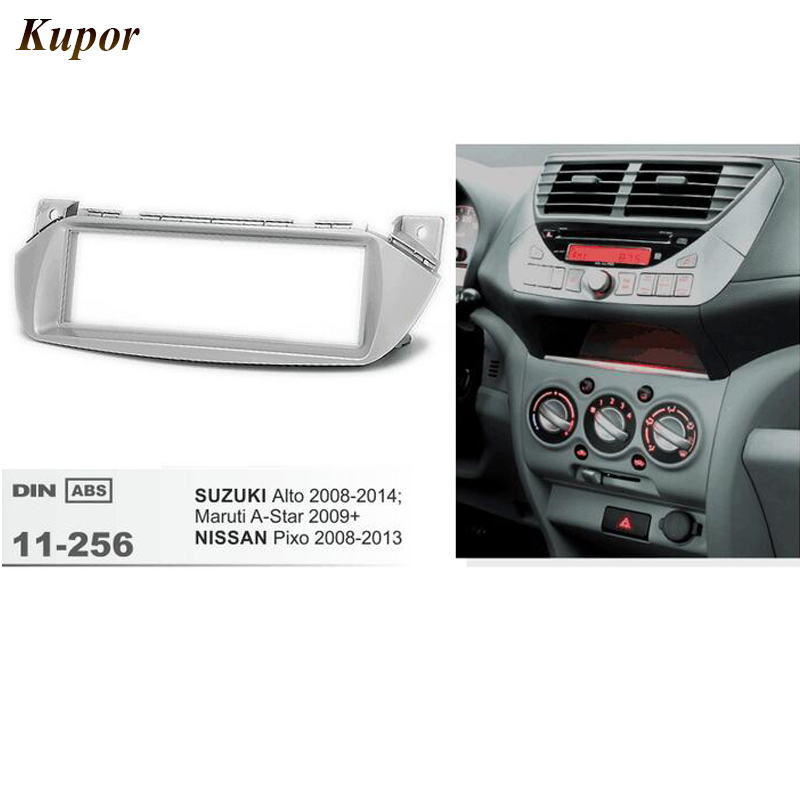 11-256 Best Car Radio Fascia for NISSAN Pixo /SUZUKI Alto Maruti A-Star 2009+ Fascia Dash CD Trim Installation Frame Kit