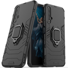 Fit Honor 20 (2019) Shockproof Armor Case For Huawei Honor 20 Stand Holder Car Ring Phone Cover for Honor20 YAL L21 YAL- L21 yal l41 yal l21 honor 20 pro fashion magnetic business case for huawei honor 20 pro artificial leather wallet flip stand cover