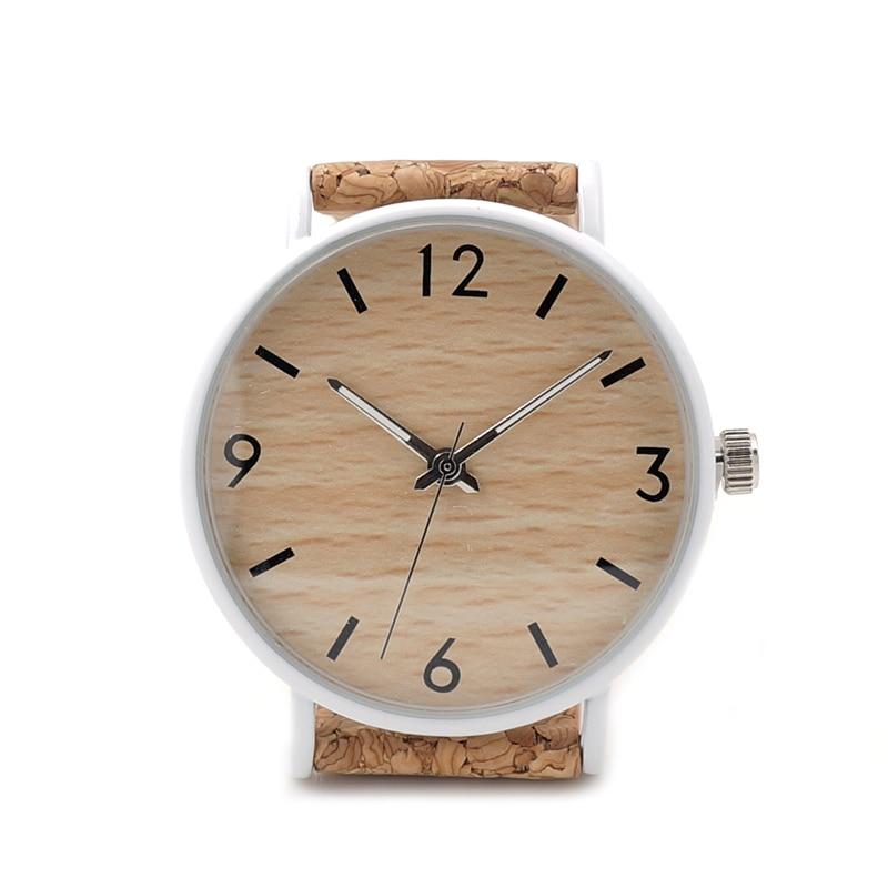 BOBO BIRD Luxury Men Watch Wood Quartz Watches Cork Strap Quartz Wristwatches relogio feminino C-E18