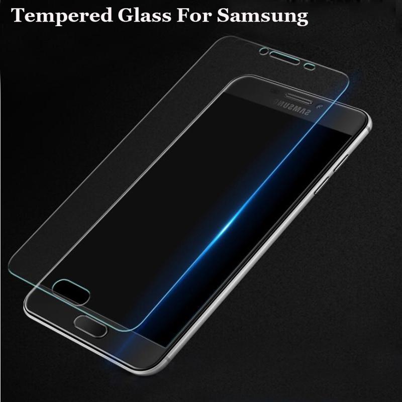 2.5D פרימיום מזג זכוכית עבור Samsung Galaxy S6 J1 J2 J3 J5 J7 A3 A5 A7 2014 2015 2016 מסך מגן מגן משמר סרט
