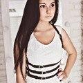 Mujeres de la manera Gótica Punky Fresca de 100% Hechos A Mano de Underbust 3 Fila Cuerpo Arnés de Cuero Bondage Correa de Cintura Esculpir Correas